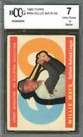 Willie Mays Card 1960 Topps #564 As San Francisco Giants BGS BCCG 7