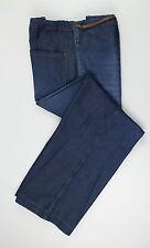 New. BRUNELLO CUCINELLI Women's Denim Blue Cotton Casual Pants Size 40/4 $895