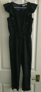 KIDS DIVISION BLUE & WHITE SPOTTY PLAYSUIT AGE 7/8 YEARS *EXCELLENT CONDITION*