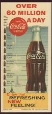 1960 * COCA-COLA BLOTTER * UNUSED * OVER 60 MILLION A DAY * FREE USA SHIP * Z838