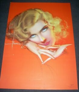 """ROLF ARMSTRONG Pin-Up Print Original """"The Eyes Have It"""" 1931 Brown & Bigelow"""