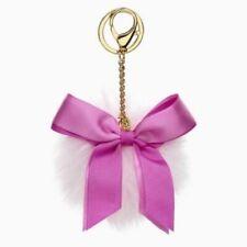 NWT UGG Pink Holiday Bow Key Fob ~ Key Chain ~ Handbag Accessory ~ Sheepskin Fur