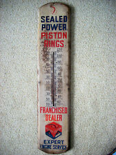 Vintage Original 1950's Sealed Power Piston Rings Advertising Metal Thermometer