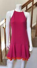 DVF Diane Von Furstenberg $368 Kera Sleeveless Tired Crepe Dress  - NWT *Size 4