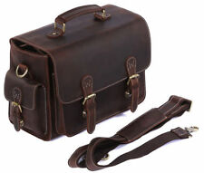 Retro Leather DSLR SLR Camera Bags Case for Nikon Canon Messenger Shoulder Bag