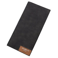 Stylish Mens Leather Long Wallet Purse Slim Checkbook Card Money Holder Bifold