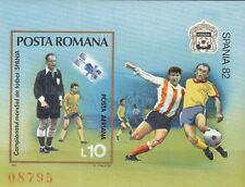 Rumänien / Romania Bl. 185** (3844**) Fußball WM 1982 Spanien