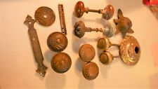Mixed lot of Antique Brass items Eastlake Door Knobs & other Knobs