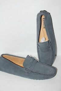 Men's Driving Casual Boat Shoes real Suede Moccasin Slip On Loafers Size 12 Gray