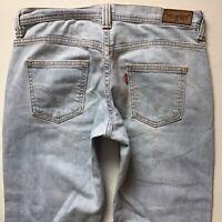 Ladies Levis 529 Curvy Bootcut Pale Blue Jeans W30 L32 (551)