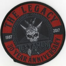 Testament ' Legacy 30 Year Anniversary ' Woven Patch