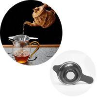 New Kungfu Leaf Teaware Fine Mesh Funnel Filter Tea Strainer Stainless Steel