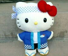 Hello Kitty Afc Peluche Giocattolo 15.2X22.9cm Bianco Blu Rosso Fiocco