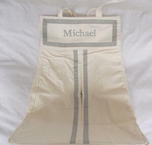 """Pottery Barn Kids Gray Harper Diaper Holder Stacker Nursery Baby """"Michael""""  NWOT"""