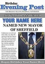 A5 alcalde de la ciudad ciudad de felicitación personalizada tarjeta de cumpleaños revista papel PID231
