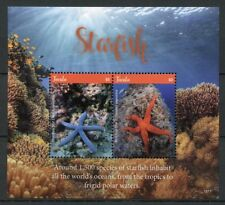 Tuvalu 2018 MNH Starfish Red Sea Star 2v S/S Corals Coral Reefs Marine Stamps