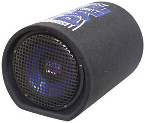 New - Pyle PLTB8 8'' 400 Watt Carpeted Subwoofer Tube Enclosure Bass System