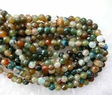UKcheapest-multiple brown blue agate faceted round 6mm gemstone beads