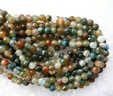 Ukcheapest-multiples Marron Bleu Agate Facettes Rond 6 mm pierres précieuses perles