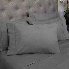 Sweet Home Collection Deep Pocket Bed 6 Piece Sheet Set Queen Gray NEW