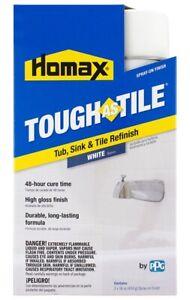 NEW HOMAX 3157 TOUGH AS TILE TUB & TILE EPOXY PAINT SPRAY ON FINISH KIT WHITE