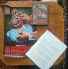 American Guinea Pig Bloodshock Signed DVD/ Script/ Signed Poster/ Gore Prop