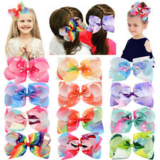"12pcs 6"" Big Glitter Hair Bow Clips Hair Clip for Baby Girls Infants Toddler Kid"