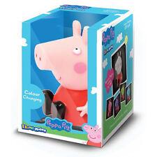 Peppa Pig Illumi-mates Dormitorio CAMBIA DE COLOR LUZ LED Rosa