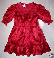 NWT Euro  104 3-4 Years H&M Red Satin Valentine's Day HEART Occasion DRESS