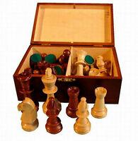pièces d'échiquier en bois, Staunton Nr 5 en en bois de qualité
