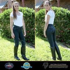 Jodhpurs Breeches Ladies Denim Look Riding Jeans Self Seat n Knee  Sizes 8 to 20