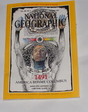 NATIONAL GEOGRAPHIC MAGAZINE OCTOBER 1991 - 1491 AMERICA BEFORE COLUMBUS