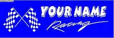 Your Team Racing Banner Personalized Motorsports Speed Shop Sign Hooters Car