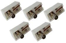 5x Connecteur prise fiche antenne TV 9,5mm IEC 169-2 coudé télé coaxial rallonge
