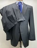 Martin Greenfield Brooks Brothers Wool Gray Striped Suit 46 L Made In USA