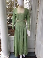 Antique Dress Lovely Silk Green Color