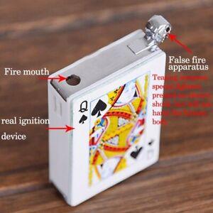 April Fool electric shock fun game toy poker ace spades lighter