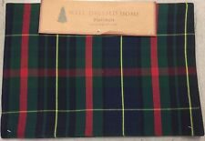 Well Dressed Home Christmas Blue Green Red Tartan Plaid Placemats Set Of 4