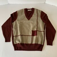 Vtg Carven Paris Monsieur Men's Jumper Sweater Wool 1960s Size Medium