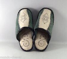 PANTOUFLES  EN FEUTRE,  Mongolie, T40, mongolian felt slippers