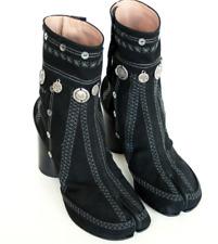 MAISON MARTIN MARGIELA TABI  'split toe gypsy coin' BLACK BOOTS EU 40 US 10