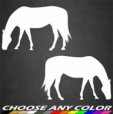 Horse Stickers Grazing Decal Vinyl Animal Farm Riding Cute Car Window Home