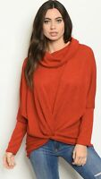NWT Women's Small Christmas Holiday Red Sweater Top Blouse USA Made Boutique