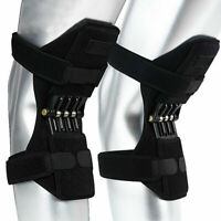 1 Pair Breathable Climbing Knee Brace Support Spring Booster Joint Support Pads