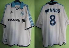 Maillot Olympique de Marseille 1999 Football shirt  BRANDO #8 OM Ericsson - XL