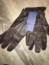 Brand New  Brown Leather Gloves Size Small 8.5 Edward Robertson London