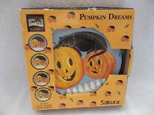 4 Retired Warren Kimble Pumpkin Dreams Black Cat Hallowen Salad Lunch Plates-MIB