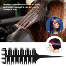 Professional 3-Way Sectioning Hair Dyeing Comb Easy To Use Highlighting Comb-.