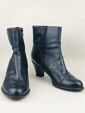 CLARKS Ladies Black Leather Mid Heel Ankle Boots UK 4.5 D | EUR 37.5 | US 6.5