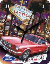 FORD Mustang Fabulous Las Vegas Nevada-blechuhr Orologio da Parete Orologio Clock 65